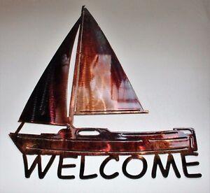 Sailboat-Welcome-Sign-Metal-Wall-Art-Decor