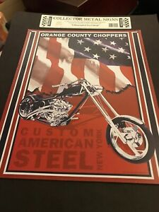 CHOPPERS FOREVER SIGN RIDE TO LIVE METAL 8X12 INCHES NEW IRON CROSS BIKER L697