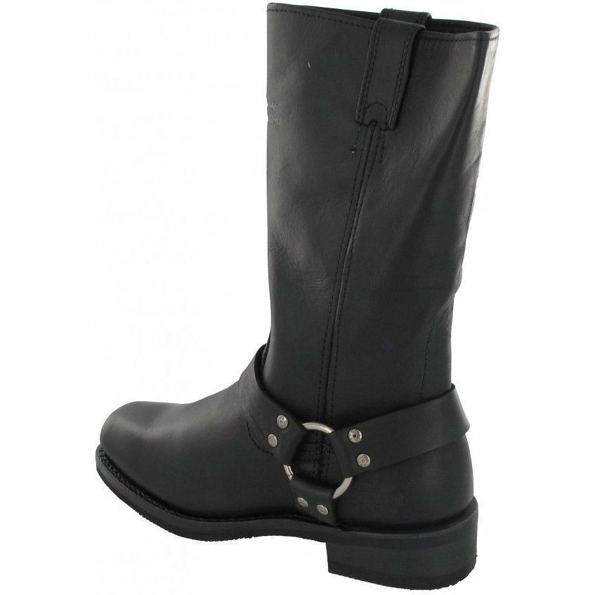 HUSTIN HARLEY DAVIDSON LADIES BLOCK HEEL ZIP UP MID LEATHER CALF LEATHER MID BIKER Stiefel e5d375