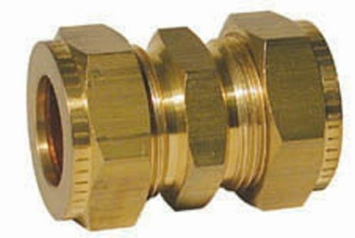 """Wade Brass Compression Fitting 5//16/"""" x 3//16/"""" Straight Coupling Copper Olives."""