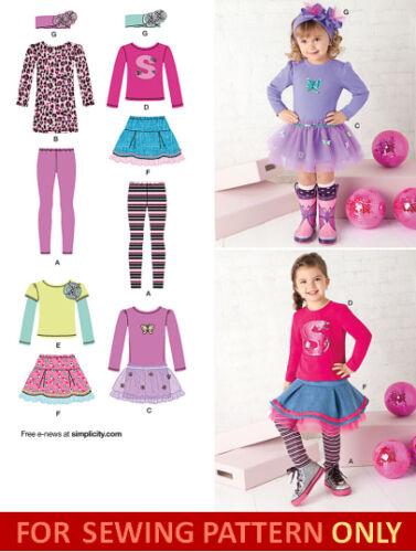 SEWING PATTERN SALE SCHOOL MAKE GIRLS BOUTIQUE STYLE SKIRT~TOP~LEGGINGS~DRESS