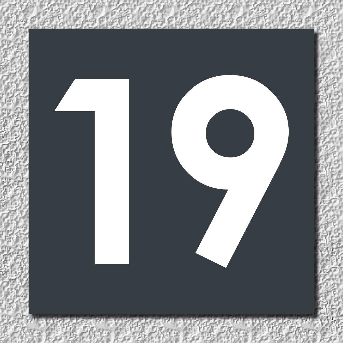 Hausnummer Hausnummern in Aluminium Verbund anthrazit - div. Größen Größen Größen - Wunschtext   Günstigen Preis    Elegantes und robustes Menü    Ich kann es nicht ablegen  0c07ee