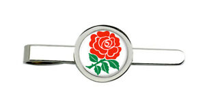Anglais-Rose-Rugby-Cravate-Pince