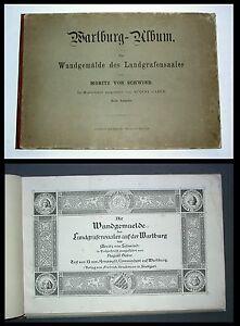 1863-Schwind-Gaber-Die-Wandgemaelde-des-Landgrafensaales-auf-der-Wartburg-31x45cm