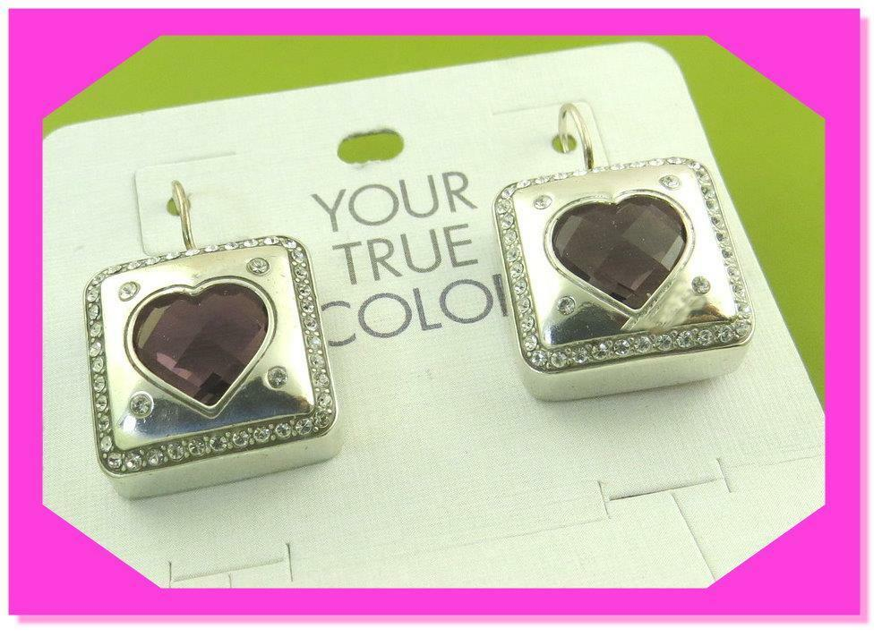 BRIGHTON YOUR TRUE COLOR OPEN HEARTED LIGHT PINK French Wire EARRINGS Nwtag