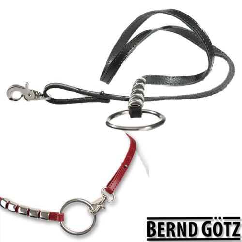 BERND GÖTZ Hüftgürtel 1 cm breit Nappaledergürtel Metallbesatz Damengürtel 10040