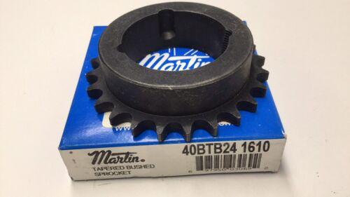 Martin 40BTB24 1610 Roller Chain Sprocket 1610 Taper Bushing 24Teeth 40BTB241610