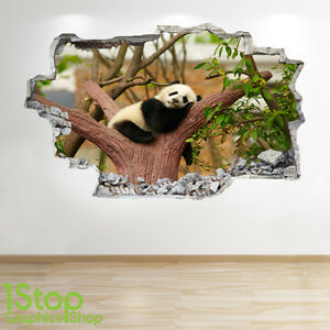 PANDA-adhesivo-pared-3d-Aspecto-Salon-Dormitorio-Naturaleza-Animal-Z164