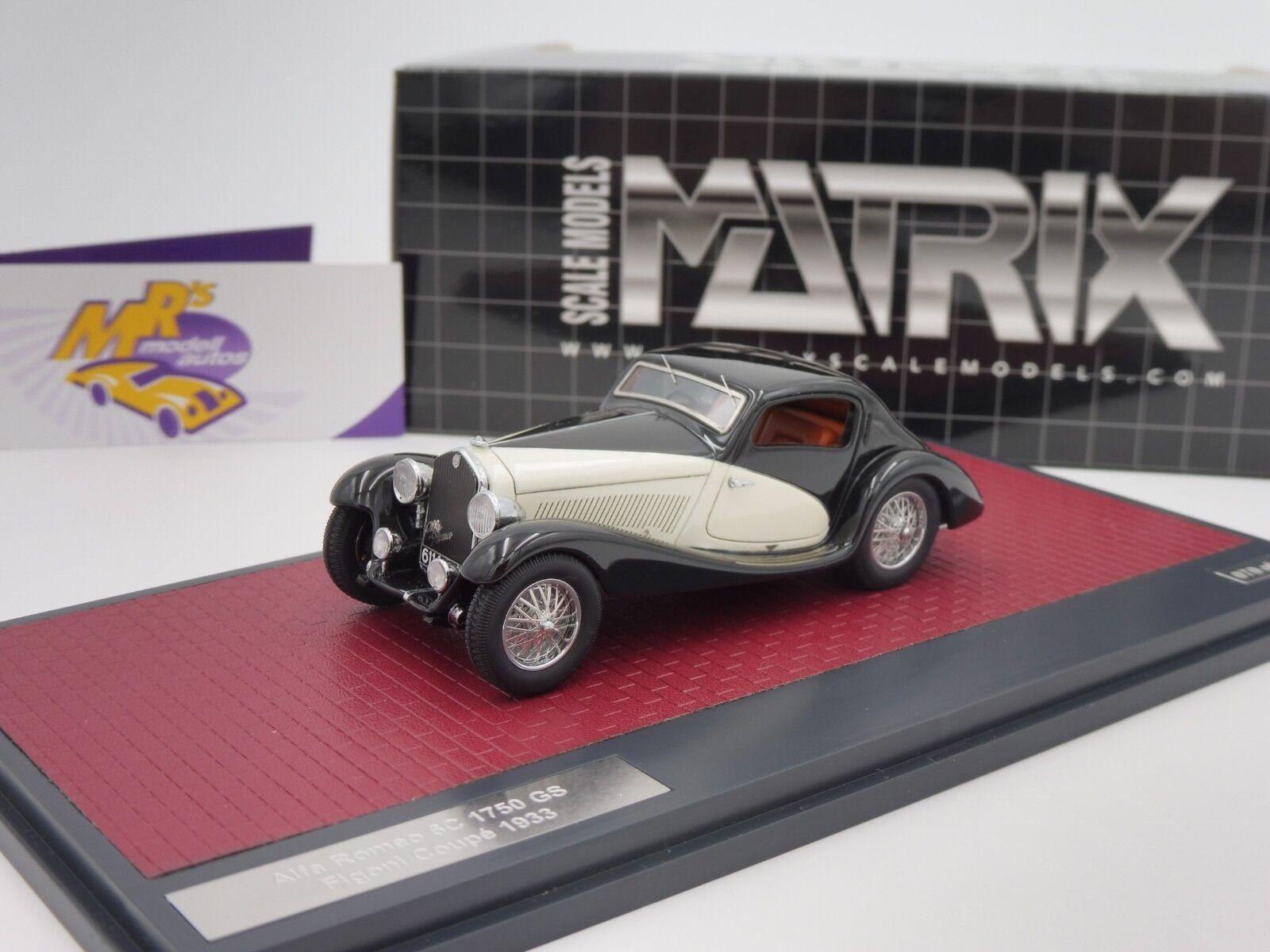 solo para ti Matriz 40102-091     Alfa Romeo 6c 1750 GS Figon Coupe año de fabricación 1933 1 43 novedad  autorización