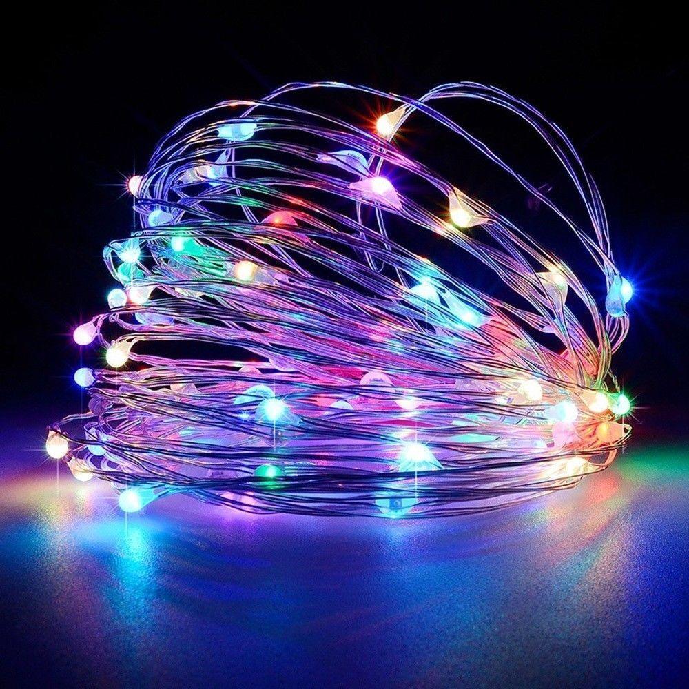 Solar Garden Fairy String 100 200 LED Light Rain Drop Crystal Bulb Outdoor Party 12