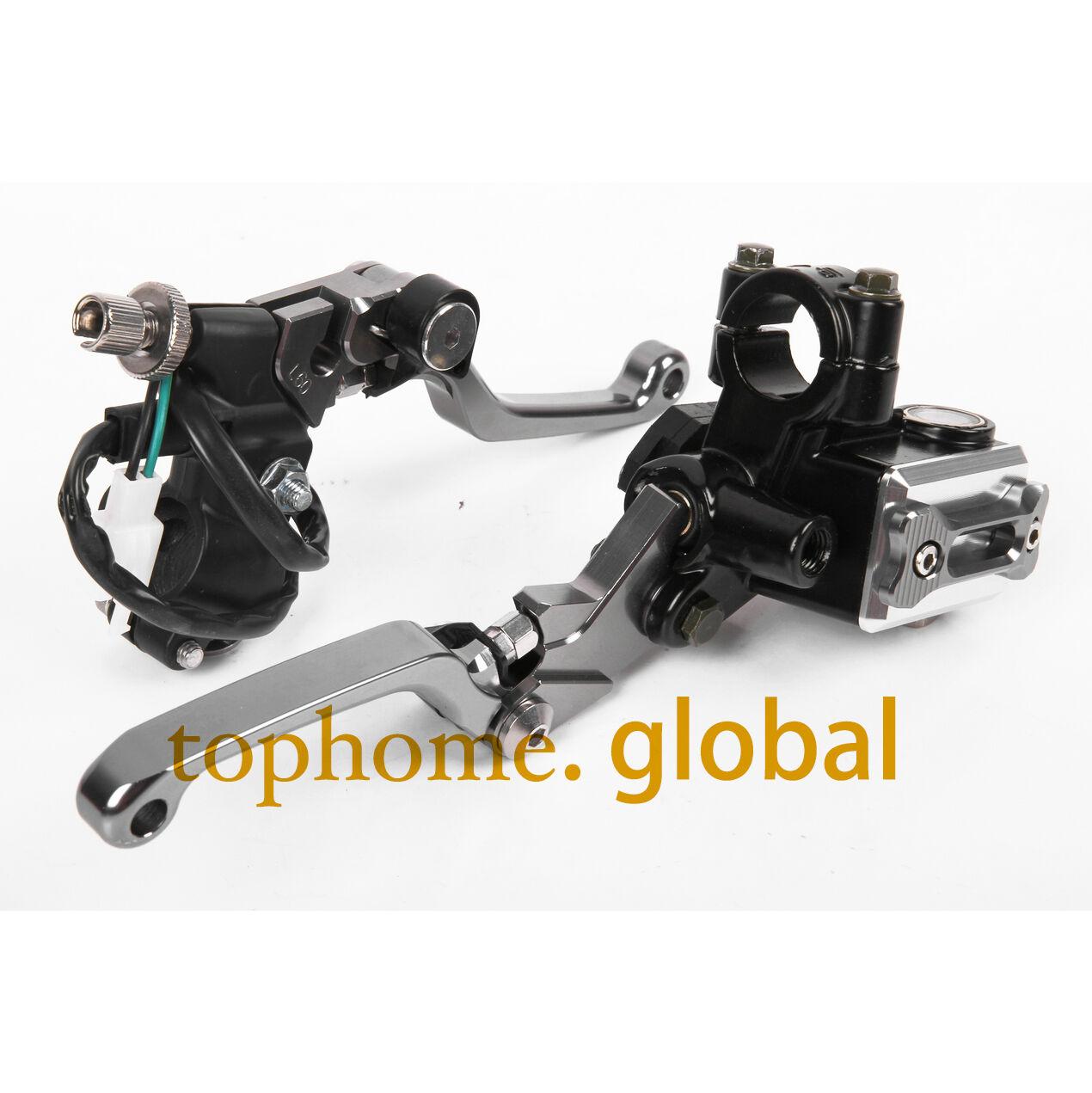 """For Kawasaki KX KLX 65//85//125//250 CNC 7//8/"""" Brake Master Cylinder Reservoir Lever"""