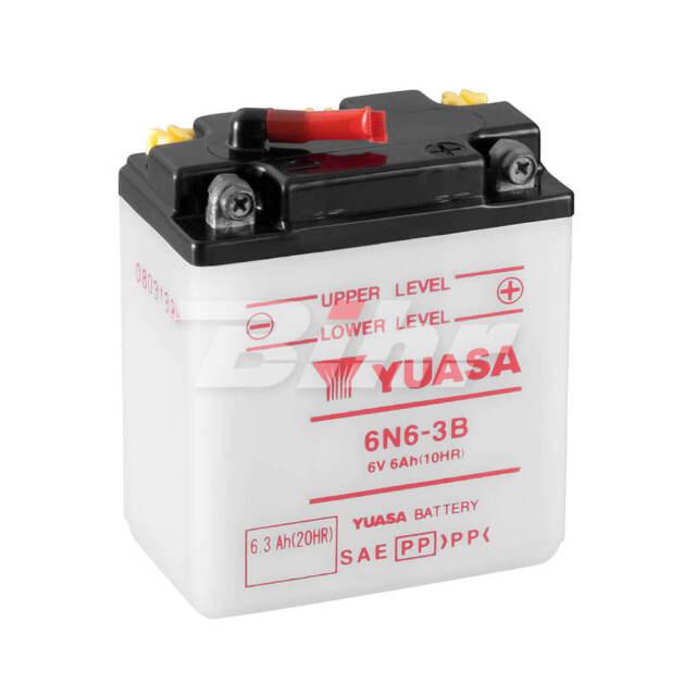 Batería Yuasa 6N6-3B (con electrolito)