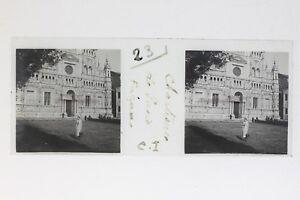 Italia-La-Chartreuse-Da-Pavia-Facade-Foto-Stereo-T2L7n-Placca-Da-Lente-Vintage