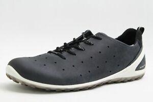 275b1f4a8d5f7f Das Bild wird geladen Ecco-Schuhe-navy-blau-Nubuk-Leder-Biom-Laufsohle-
