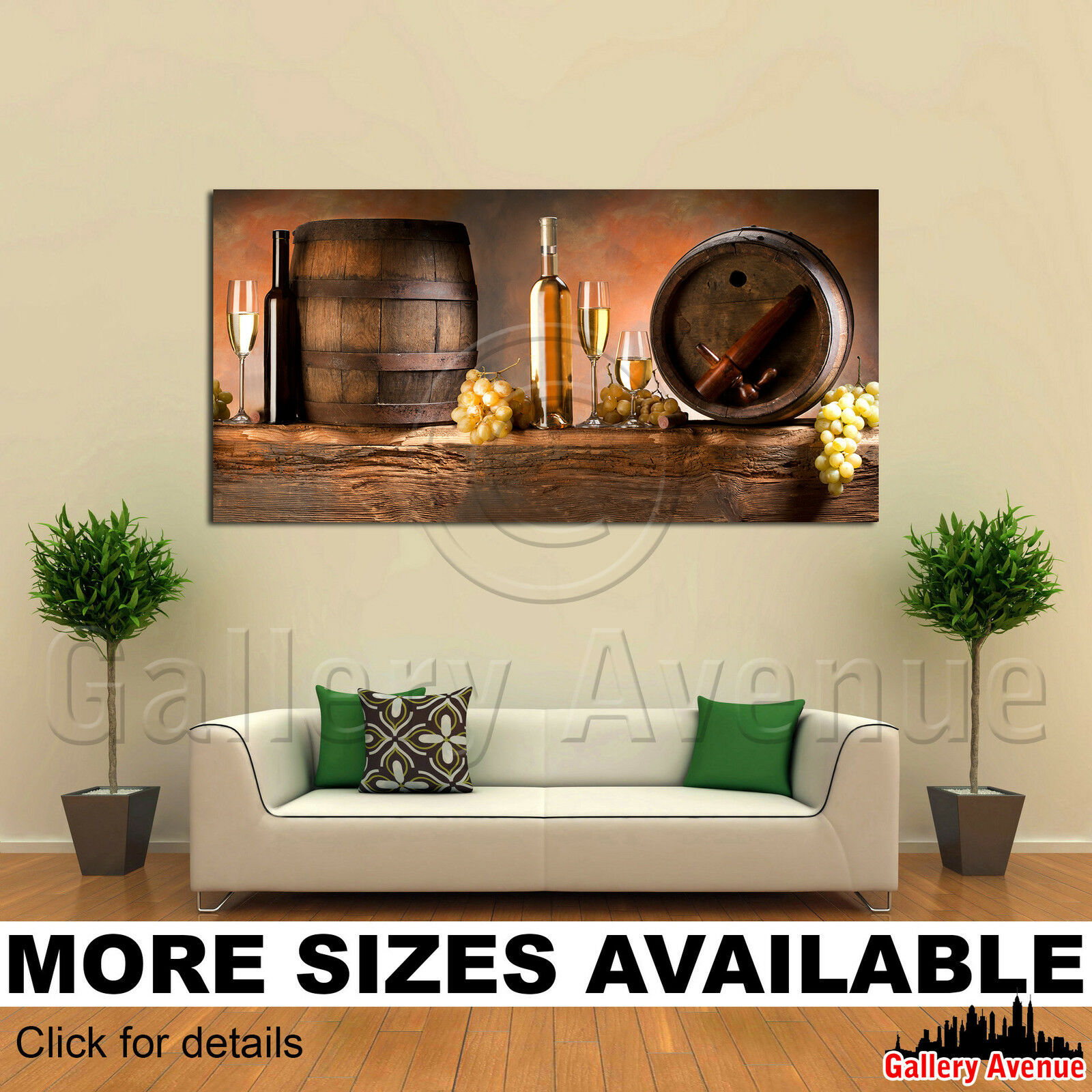 A Wall Art Canvas Picture Print - Wine Glasses Grapes Cask 01 2.1