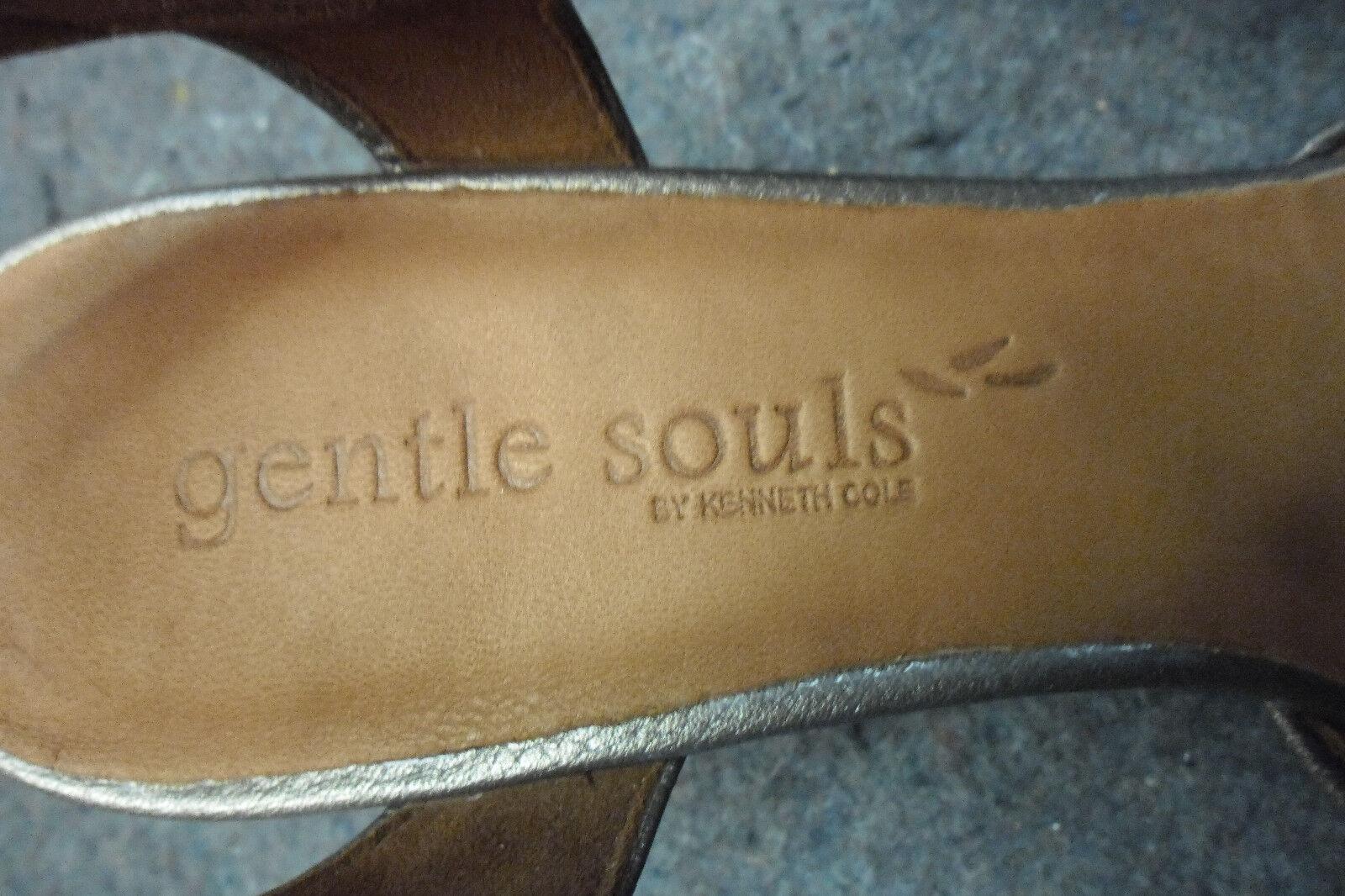 Gentle Souls Metálico Oro antiguo puente Mt Zapatos en Talla. 9.5m Nuevo en Zapatos Caja Kenneth Cole 6312bc