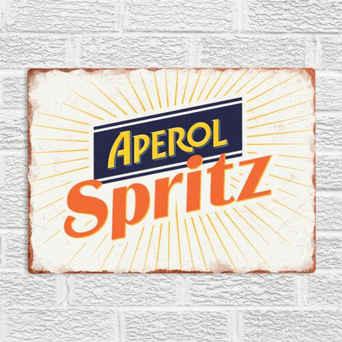 APEROL SPRITZ Metal Wall Sign Plaque Vintage Bar Pub Prosecco Cocktail Man Cave