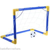 Mini Football Soccer Goal Post Net Set With Pump Indoor Outdoor Kids Sport Toy