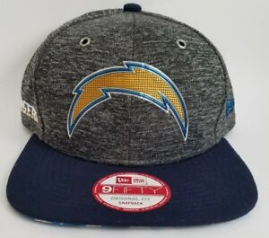 Men s Los Angeles Chargers New Era Heather Gray Draft 2016 Snapback ... 10027904cd9
