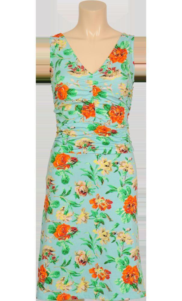 Kleid, Blütenprint, Marke  King Louie, türkis, Größe  M