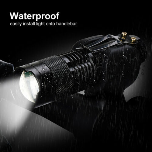Bike Front Light 260LM Bicycle Headlight LED Flashlight Clip 3 Modes Torch USA