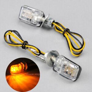 Clear-6-LED-Mini-Motorcycle-Dirt-Bike-Turn-Signal-Blinker-Indicator-Amber-Light