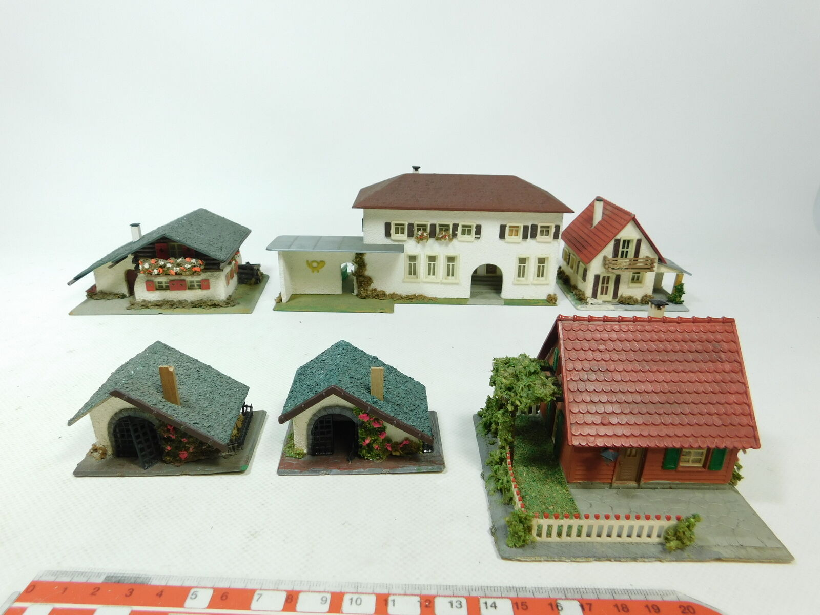 BD885-2 x Faller etc. H0 00 Models 208 House Country House +213 post Office