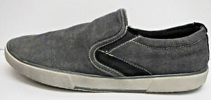 Steve-Madden-Size-7-5-Black-Canvas-Loafers-New-Mens-Shoes