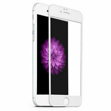 WHITE 3D Curved Full Cover Tempered Glass Screen Protector For iPhone 6/6s