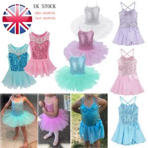 Image is loading Girls-Ballet-Dress-Kids-Gymnastics-Tutu-Skirt-Dancewear- e45dfec7773f