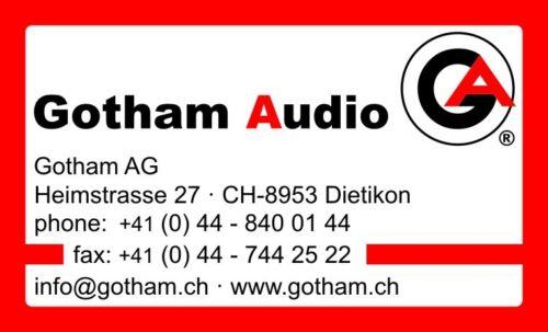 Gotham Mains Power cable 230vAC Swiss Made Netzkabel 3fach geschirmt DE//CH//US
