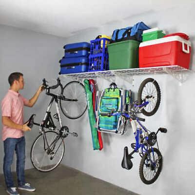 """Two 18""""x 48"""" Shelves Brand New Saferacks Wall Shelf Combo Kit Four Deck Hooks"""