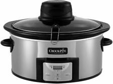 Crock-Pot 6.5 Qt. Stainless Oval Programmable Digital Slow Cooker w/ Auto Stir