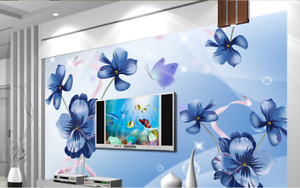 3D-Tibetan-Flowers-78-Wallpaper-Mural-Paper-Wall-Print-Wallpaper-Murals-UK-Carly