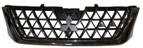 Rejilla de Radiador Frontal Cromado Y Negro Para Mitsubishi L200 K74 2.5TD 06//01-08//04