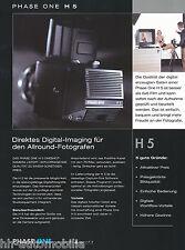 Prospekt Phase One H5 Digitalback Mittelformatkameras 10/02 D brochure Broschüre