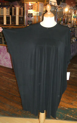 Baylis /& Knight Black Jersey Parisian Chic CAPE Dress Relaxed Oversize Cool