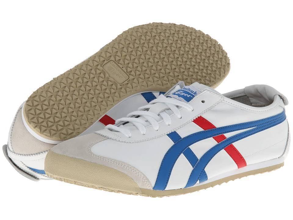 Scarpe casual da uomo  ONITSUKA TIGER DL408.0146 MEXICO 66 Mn's (M) White/Blue Leather Lifestyle Shoes