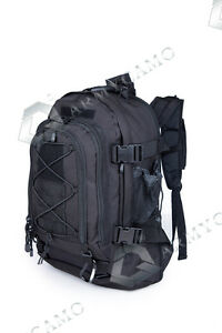 f14b73ff97c0 Image is loading 40L-Outdoor-Expandable-Tactical-Backpack-Military-Sport- Camping-