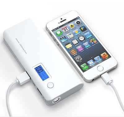 External Battery 50000 mAh Power Bank Zusatzakku Akku mobiles Ladegerät USB