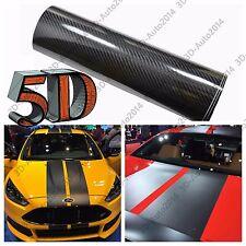 15cm X 350cm Black 5D HIGH GLOSS Carbon Fiber Stripe Car Hood Roof Decal Sticker