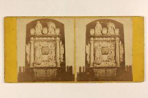 Monumento A Identificare Scultura Foto Stereo Vintage Albumina c1865