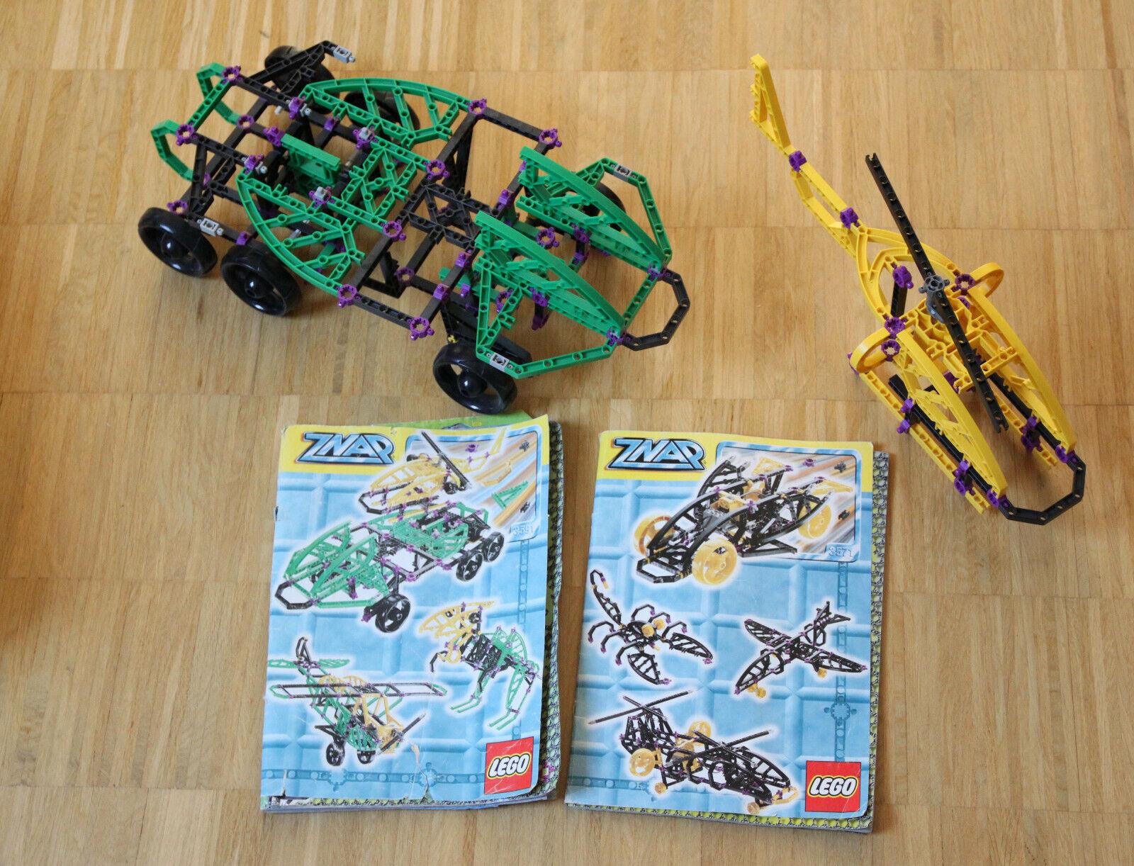 Lego ZNAP Konvolut-Kiste 2 Bauanleitungen 3571 3591 - Bitte Beschreibung lesen )