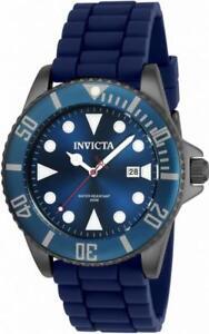 Invicta-Pro-Diver-90306-Men-039-s-Round-Analog-Date-Navy-Blue-Silicone-Watch