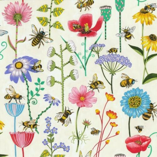 Nutex Fabric Multiple Sizes Bee Haven Cream 100/% Cotton