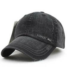 78e0d8f388b Distressed Cotton Solid Polo Denim Baseball Cap Hat Ball Dad Washed Vintage  Cool