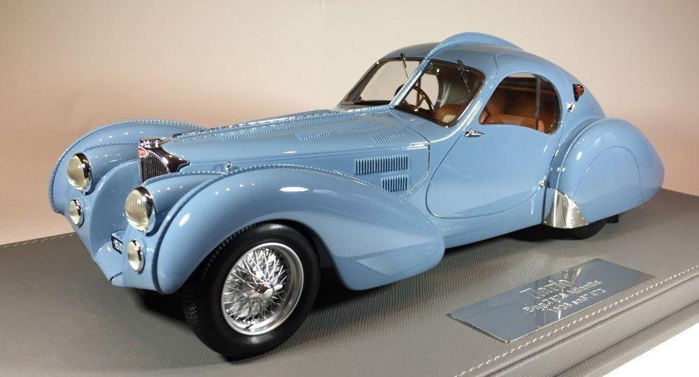 1936 Bugatti 57S Atlántico sn57473 Azul por Ilario  Escala Il1 Le de 80