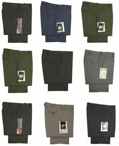 New-Mens-Formal-Work-Office-Smart-Trousers-Pants-Flat-Front-Size-30-60
