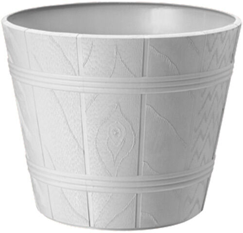 Fiori Vaso Fioriera in plastica Elba 15cm-42cm Marrone