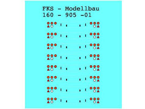 NEU Spur N Heckblenden für LKW /& Auflieger Typ 1 FKS 160-905-01